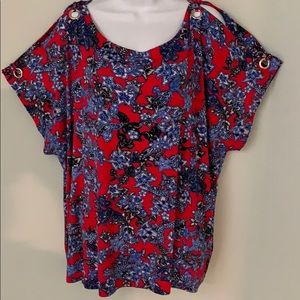 NWT Cable and Gauge cold shoulder top 2X